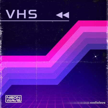 Neon Wave Rewind and Repeat Retro VHS Melodics