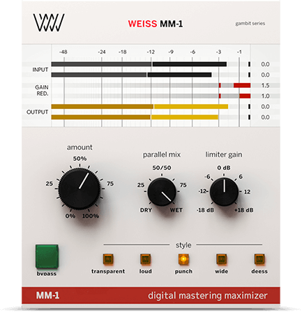 Softube Weiss MM-1 Mastering Maximizer