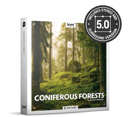 Boom Library Coniferous Forests STEREO and SURROUND